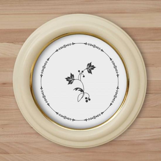 Круглая рамка КР 40–13 Диаметр по окну – 13 см Наружный диаметр – 21 см