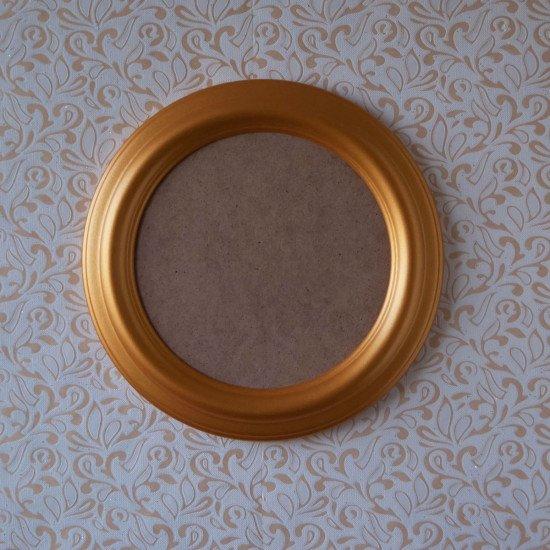 Круглая рамка КР 40–16 Диаметр по окну – 16 см Наружный диаметр – 24 см