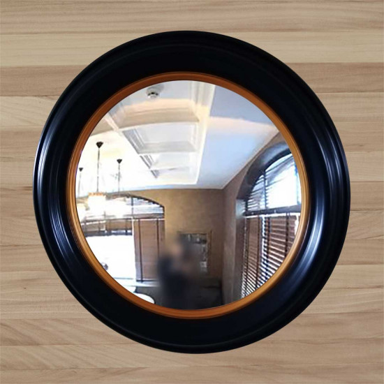 Зеркало КЗ 80–5 черное 76 x 76