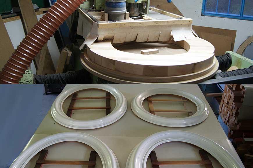 Изготовление круглого и овального багета для рамок