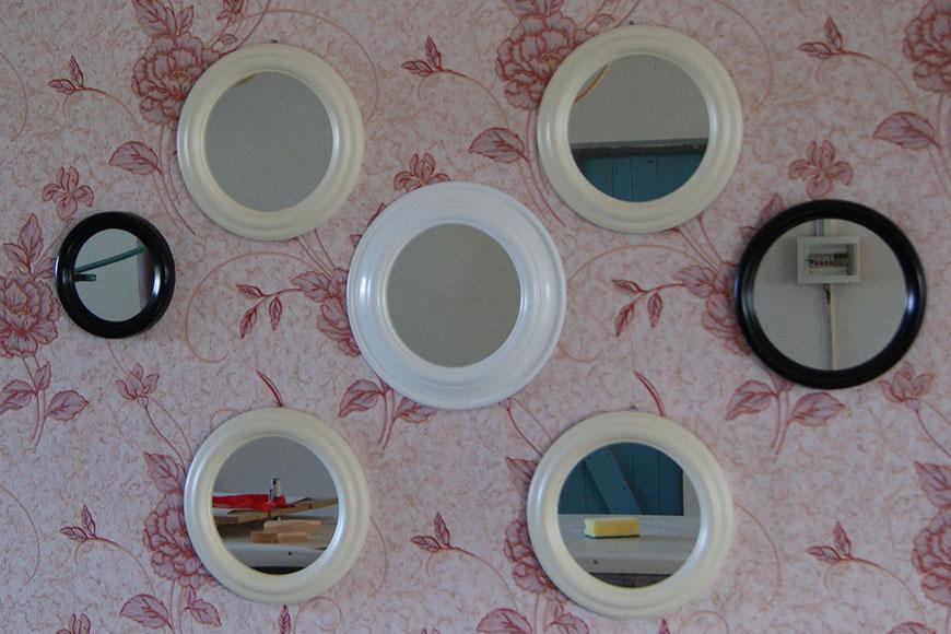 Маленькие декоративные настенные зеркала на стену