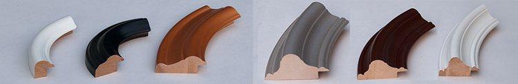 Образцы деревянного багета для овальных зеркал